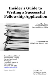 stack of binders cover image for Insider's Guide to Writing a Successful Fellowship Application