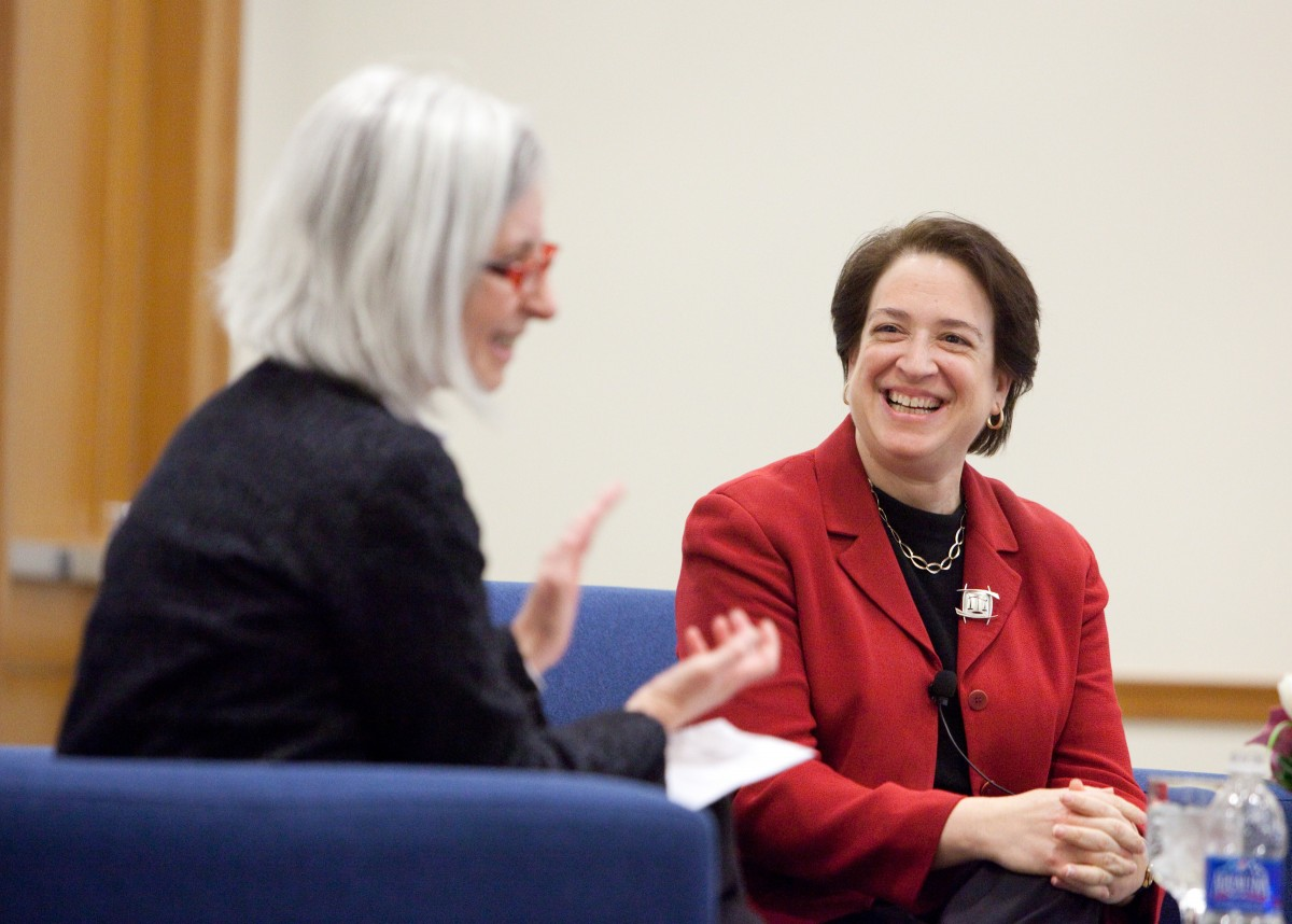 Dean Martha Minow and Associate Justice of the US Supreme Court Elena Kagan '86