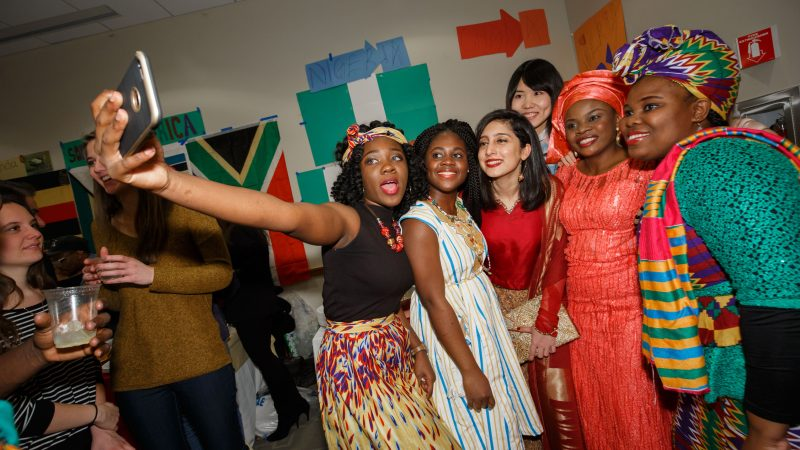 2017_02_11 The HLS LL.M. Class of 2017's International Party was held in Wasserstein Hall. The event featured a variety of international food, and cultural performances.