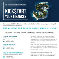 Kick$tart Your Finances: Financial Wellness Workshops