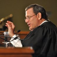 Justice Roberts speaks from the bench