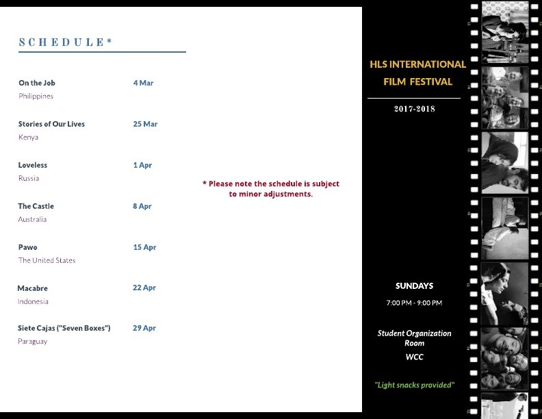 HLS Int Film Festival Schedule page 2