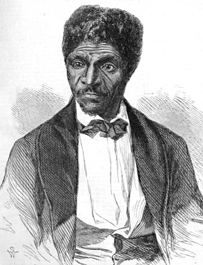 Dred Scott, a slave who was denied his freedom and the right to sue in federal courts.