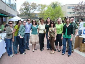 Members of the Harvard Law School Green Team celebrate Earth Day.