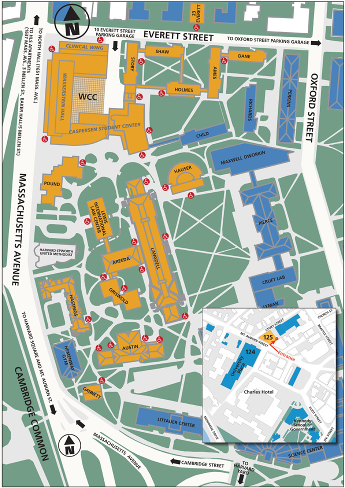 Campus Map and Directions | Harvard Law School