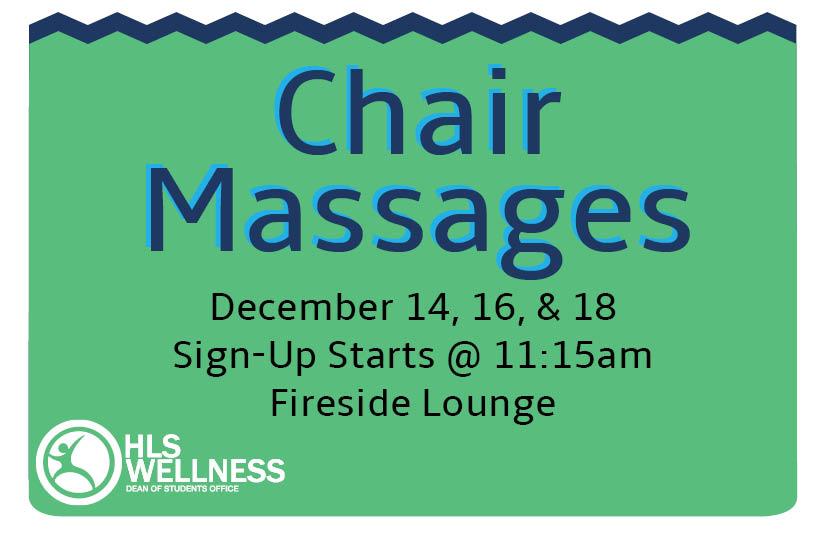 Chair Massages Fall 2015