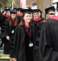 HLS students in Commencement Regalia