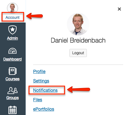 Managing your notifications