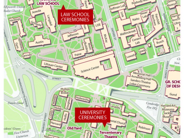 Map of Harvard University Campus