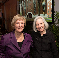 Dean Minow and President Faust