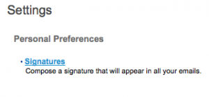 this image shows personal preferences signitures for clinical email
