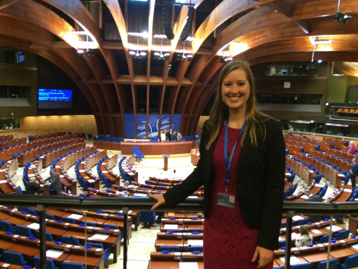 Molly Doggett '17 at the Parliamentary Assembly of the Council of Europe