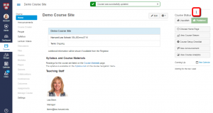 Publishing your course page for students