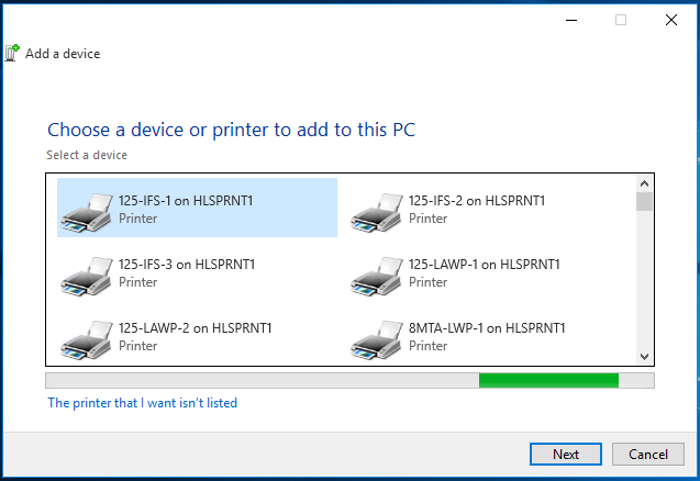 win10 Add printer dialog box 1