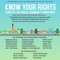 People's Law School Poster