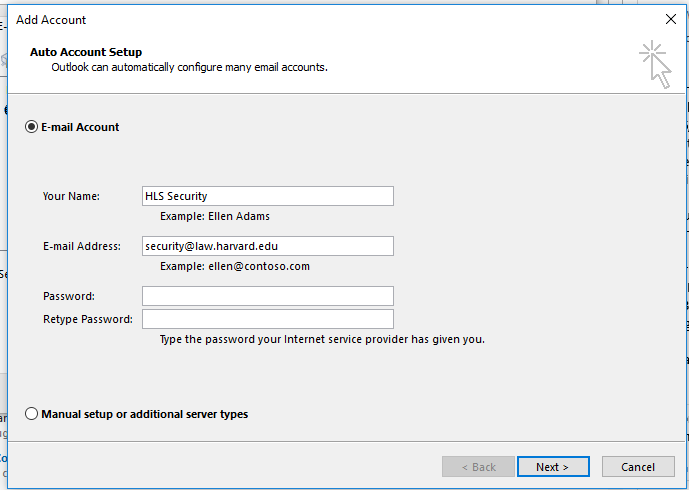 Adding a Second Profile in Outlook for O365   Harvard Law School