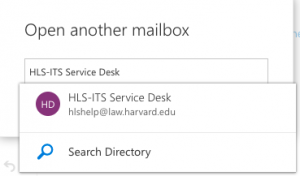 Accessing a Shared/Departmental/Resource Mailbox in O365 | Harvard