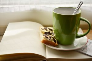Cup Book Plan Breakfast Read Coffee Cup