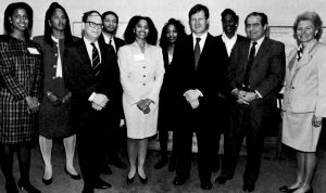 Ames Moot Court team photo with judges