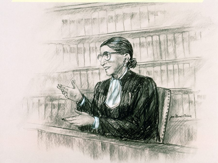 Illustration of Justice Ginsberg