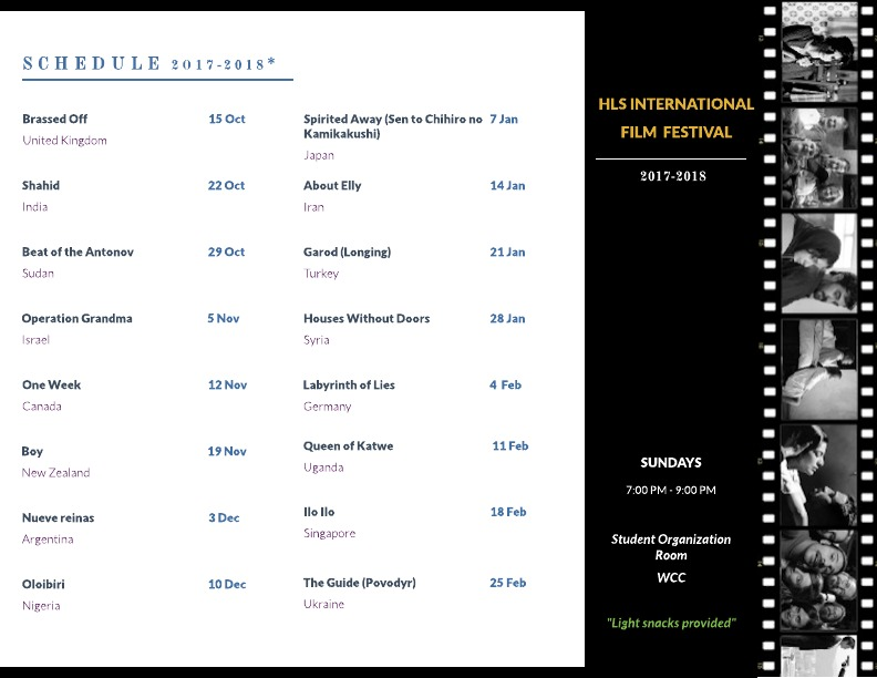 HLS Int Film Festival Schedule1