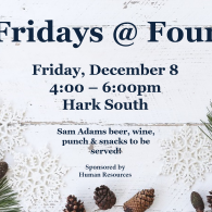 Poster for Fridays at Four event on Dec 8 at 4pm