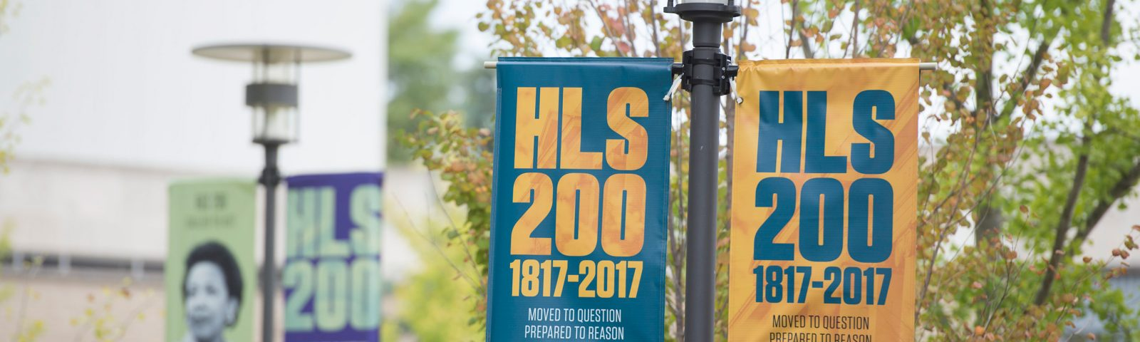 HLS 200 banners across campus