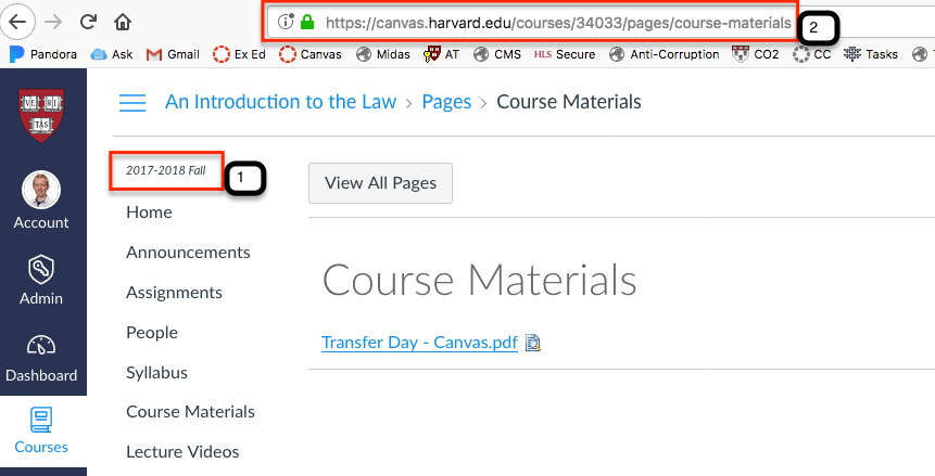 Importing Content from a Past Canvas Course | Harvard Law School