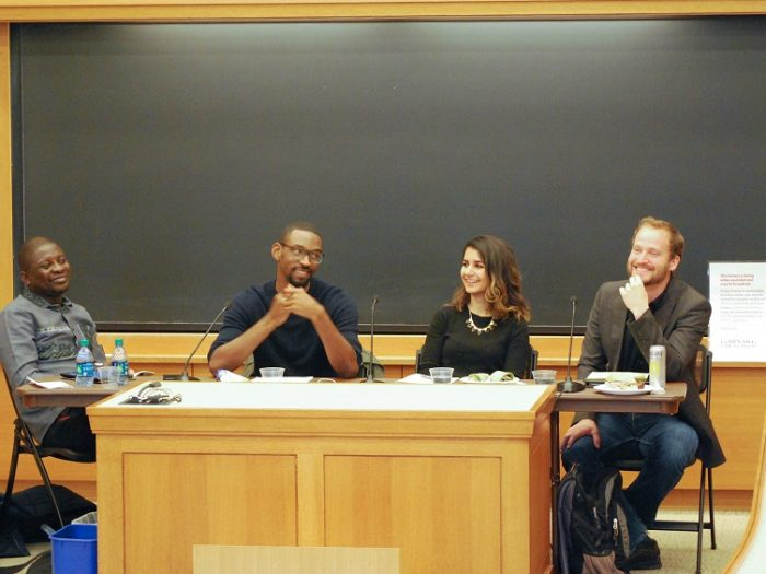 Panelists at a Chayes Fellowship panel on