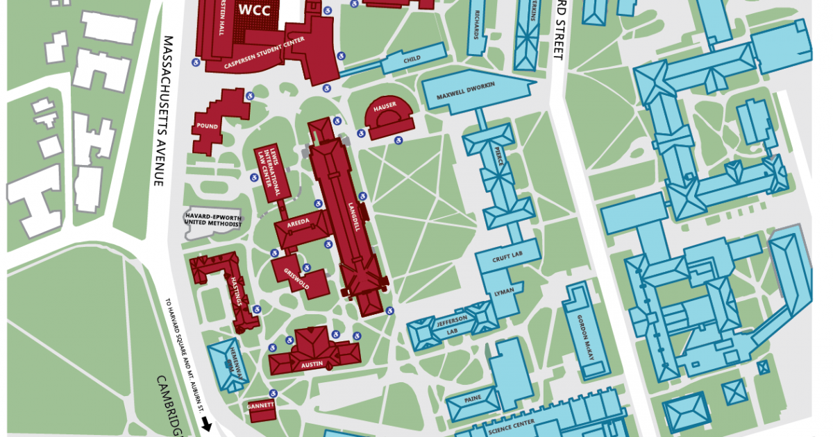 Boston Subway Map Harvard Square.Campus Map And Directions Harvard Law School