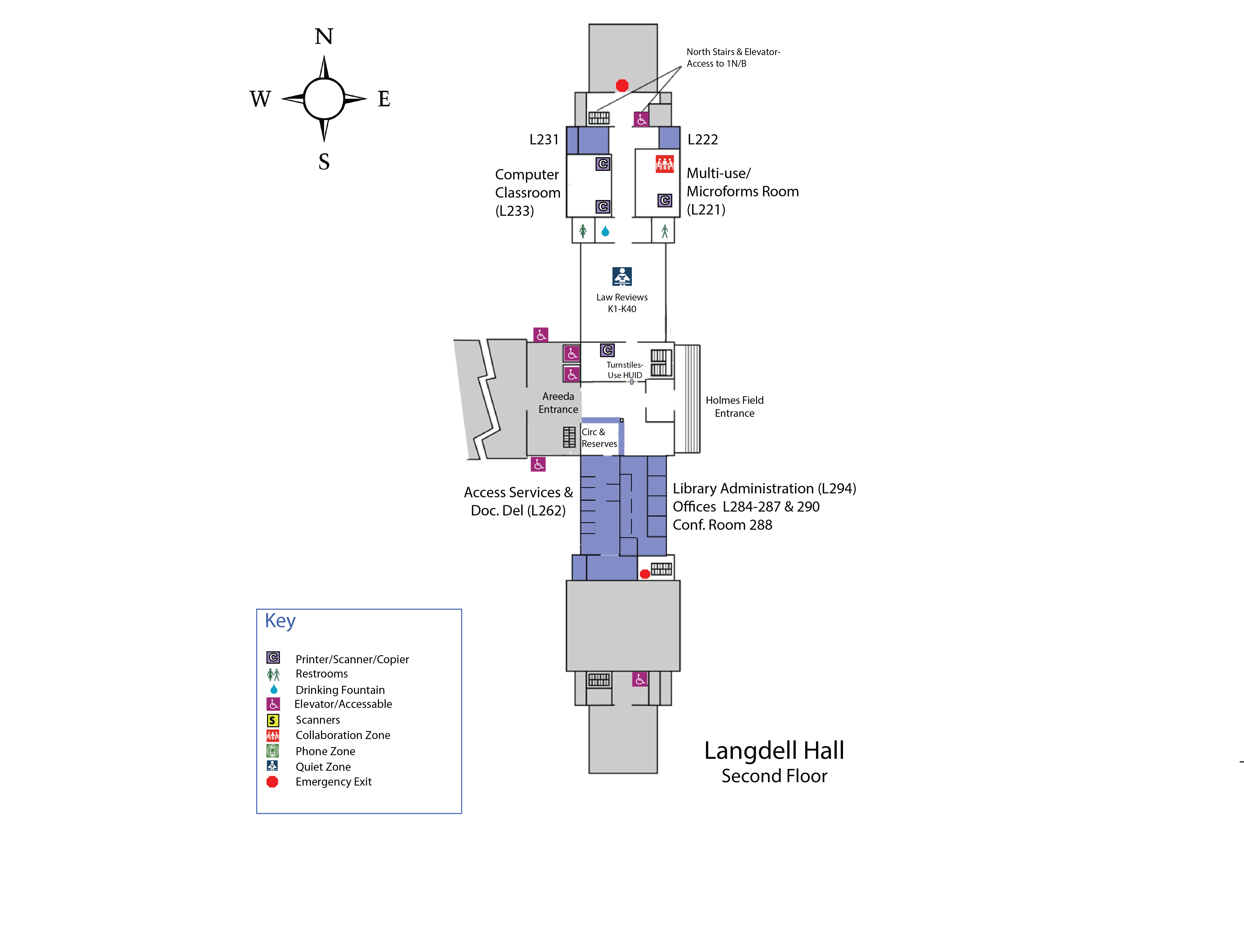 Langdell 2s Floor Map