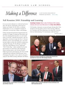 Making a Difference, the HLS planned giving newsletter