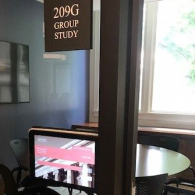 New Digital Room Signs Available in Langdell Hall Study Rooms