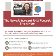 poster advertising new my harvard total rewards website