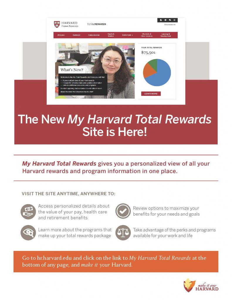 Introducing the My Harvard Total Rewards Site