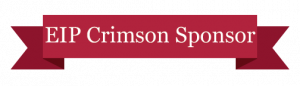 """EIP Crimson Sponsor"" written on a crimson colored banner"