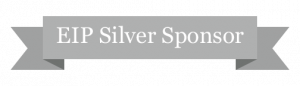 """EIP Silver Sponsor"" written on a silver colored banner"