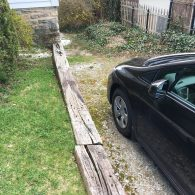 Car parked in driveway