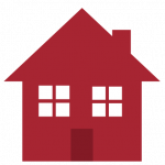 simple illustration of a red house