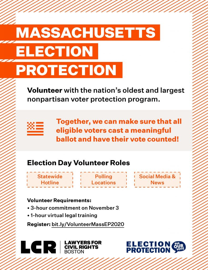 Volunteer with Election Protection!  HLS Training on October 22