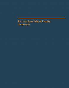 cover of HLS Faculty Directory